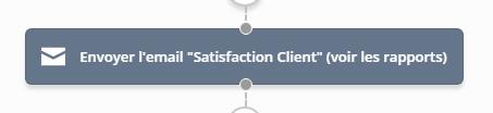 Active Campaign - Envoie mail de satisfaction client