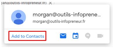 Ajouter un contact en favoris