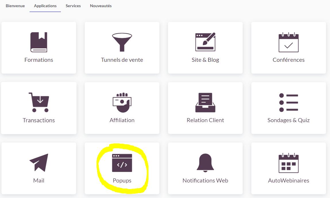 Learnybox - Popups