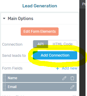 ThriveLeads - Add Connection